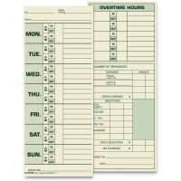 TOPS Time Card for Pyramid Model 331-10, Weekly, Two-Sided, 3 1/2 x 8 1/2, 500/Box TOP1291