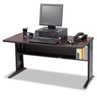 Safco Computer Desk W/ Reversible Top, 47-1/2w x 28d x 30h, Mahogany/Medium Oak/Black SAF1931