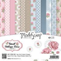"Elizabeth Craft ModaScrap Paper Pack 6""X6"" 12/Pkg NOTM098544"