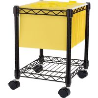 Lorell Compact Mobile Wire Filing Cart LLR62950