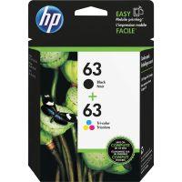 HP 63, (L0R46AN) 2-pack Black/Tri-Color Original Ink Cartridges HEWL0R46AN