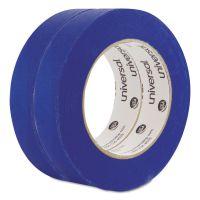Universal Premium Blue Masking Tape w/Bloc-it Technology, 24mm x 54.8m, Blue, 2/Pack UNVPT14025