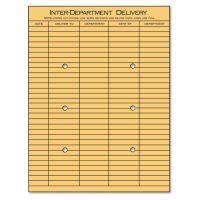 Universal Light Brown Kraft String & Button Interoffice Envelope, 10 x 13, 100/Box UNV63568
