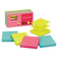 Post-it Pop-up Notes Original Pop-up Refill, 3 x 3, Assorted Cape Town Colors, 100-Sheet, 12/Pack MMMR33012AN