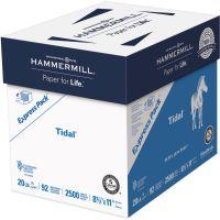 Hammermill Tidal MP Paper Express Pack, 92 Brightness, 20 lb, 8 1/2 x 11, White, 2500 Sheets/Carton HAM163120