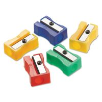 Westcott Manual Pencil Sharpeners, Red/Blue/Green/Yellow, 4w x 2d x 1h, 24/Pack ACM15993