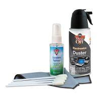 "Dust-Off Premium Keyboard Cleaning Kit, 50 mL Bottle, 5 1/4"" x 7 1/2"" Cloth, 4 Swabs FALDCKB"