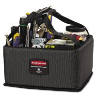 Rubbermaid Commercial Executive Quick Cart Caddy, Small, Dark Gray RCP1902459CT