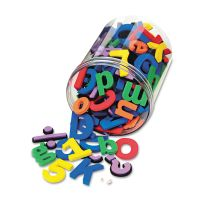Chenille Kraft Wonderfoam Magnetic Alphabet Letters, Assorted Colors. 105/Pack CKC4357