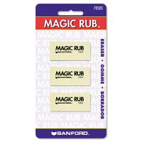 Prismacolor MAGIC RUB Art Eraser, Vinyl, 3/Pack SAN70503