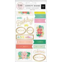 Confetti Wishes 4-Page Sticker Book NOTM366013