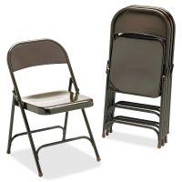 Virco Metal Folding Chairs, Mocha, Four/Carton VIR16213M