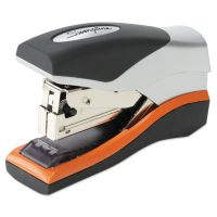 Swingline Optima 40 Compact Stapler, Half Strip, 40-Sheet Capacity, Black/Silver/Orange SWI87842