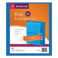 Smead Poly String & Button Booklet Envelope, 9 3/4 x 11 5/8 x 1 1/4, Blue, 5/Pack SMD89522