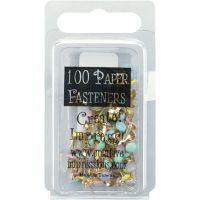 Mini Painted Metal Paper Fasteners 3mm 100/Pkg NOTM261105