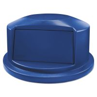 """Rubbermaid Commercial Round Brute Dome Top Lid for 44gal Waste Containers, 24.81"""" Dia, Blue RCP1834840"""