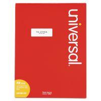 Universal Laser Printer Permanent Labels, 1 x 2 5/8, White, 7500/Box UNV80120