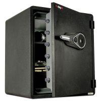 FireKing One Hour Fire and Water Safe w/Biometric Fingerprint Lock, 2.14 cu. ft, Graphite FIRKY19151GRFL