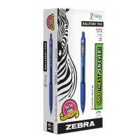 Zebra Z-Grip Retractable Ballpoint Pen, Blue Ink, Medium, Dozen ZEB22220