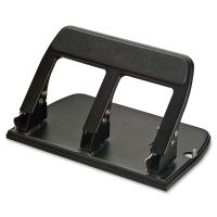 OIC Heavy-Duty Padded Hndl 3-Hole Punch OIC90089