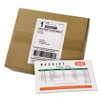 Avery Shipping Labels with Paper Receipt Bulk Pack, 5 1/16 x 7 5/8 , White, 100/Box AVE27900