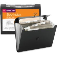 Smead Step Index Organizer, 12-Pocket, Letter, Poly, Black SMD70901