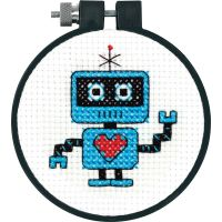 Dimensions Learn-A-Craft Robot Counted Cross Stitch Kit NOTM050064