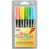 Bistro Chalk Marker 6mm Point Set 4/Pkg NOTM132033