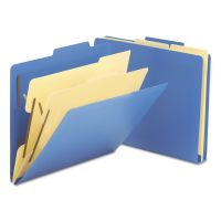 """Smead 2-1/2"""" Expansion Heavy-Duty Poly Classification Folders, Letter, Blue, 10/Box SMD14045"""