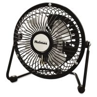 Holmes Mini High Velocity Personal Fan, One-Speed, Black HLSHNF0410ABM