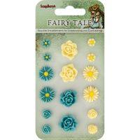 ScrapBerry's Fairy Tale Resin Flower Embellishments NOTM389817