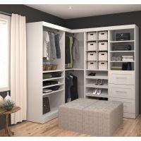 Bestar Pur by Bestar Corner Storage kit in White BESBES2685417