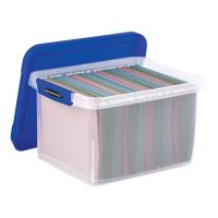 Bankers Box Heavy Duty Plastic File Storage, 14 1/8 x 17 2/5 x 10 3/5, Clear FEL0086201