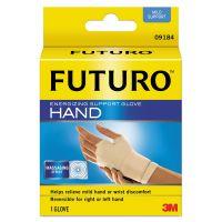 "FUTURO Energizing Support Glove, Medium, Palm Size 7 1/2"" - 8 1/2"", Tan MMM09183EN"