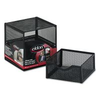 Rolodex Organization Two-Drawer Cube, Wire Mesh, Storage, 6 x 6 x 6, Black ROLFG9E5600BLA