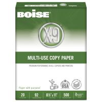 Boise X-9 Multi-Use Copy Paper, 92 Brightness, 20 lb, 8 1/2 x 11, White, 2500 Sheets/Carton CASOX9001JR