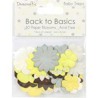 Dovecraft Back To Basics Paper Blossoms 30/Pkg NOTM091825