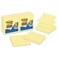 Post-it Pop-up Notes Super Sticky Pop-up 3 x 3 Note Refill, Canary Yellow, 90 Notes/Pad, 12 Pads/Pack MMMR33012SSCY