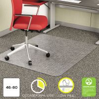 deflecto EconoMat Occasional Use Chair Mat for Low Pile, 46 x 60, Clear DEFCM11442F