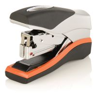 Swingline Optima 40 Compact Stapler, Half Strip, 40-Sheet Capacity, Black/Silver/Orange SWI87842