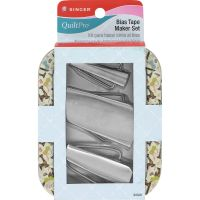 QuiltPro Bias Tape Maker Set In Decorative Tin NOTM081129