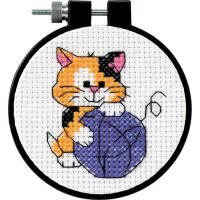 Dimensions Learn-A-Craft Cute Kitty Counted Cross Stitch Kit NOTM288256