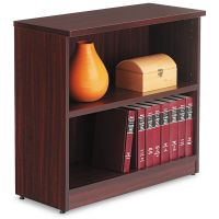 Alera Valencia Series Bookcase, Two-Shelf, 31 3/4w x 14d x 29 1/2h, Mahogany ALEVA633032MY