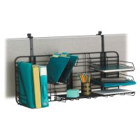 Safco GridWorks Compact Office Organization System, 38 x 15, Charcoal Gray SAF4100CH