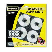 Fellowes Two-Sided CD/DVD Refill Sheets for Three-Ring Binder, 25/Pack FEL95321