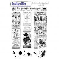 """IndigoBlu Cling Mounted Stamp 9""""X6.5"""" NOTM353089"""