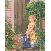 The Gardener's Daughter Counted Cross Stitch Kit NOTM052768