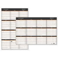 AT-A-GLANCE Contemporary Two-Sided Yearly Erasable Wall Planner, 24 x 36, 2019 AAGPM26X28