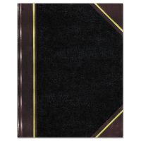 National Texthide Notebook, Black/Burgundy, 500 Pages, 14 1/4 x 8 3/4 RED57151