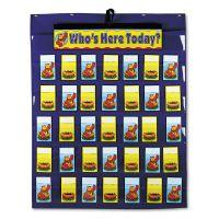 Carson-Dellosa Publishing Attendance/Multiuse Pocket Chart, 35 Pockets/Two-Sided Cards, Blue, 30 x 37 1/2 CDPCD5644